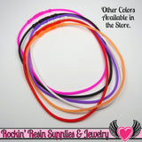 SILICONE NECKLACE CORD Purple 17 inch with Built In Clasp (5 pieces) - Rockin Resin  - 3