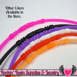 SILICONE NECKLACE CORD Hot Pink 17 inch with Built In Clasp (5 pieces) - Rockin Resin  - 4
