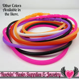 SILICONE NECKLACE CORD Purple 17 inch with Built In Clasp (5 pieces) - Rockin Resin  - 5