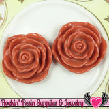 JUMBO ROSE BEADS 45mm Dusty Rose 2 Pieces - Rockin Resin  - 1