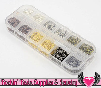 8mm JUMP RING MIX Open 8 mm x 0.7mm with Storage Box - Rockin Resin  - 1