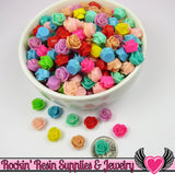9mm Resin FLOWER CABOCHONS Assorted Colors - Rockin Resin  - 2