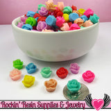 9mm Resin FLOWER CABOCHONS Assorted Colors - Rockin Resin  - 4
