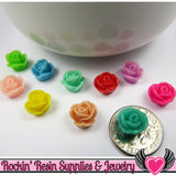 9mm Resin FLOWER CABOCHONS Assorted Colors - Rockin Resin  - 1