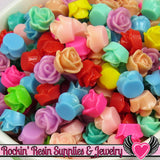 9mm Resin FLOWER CABOCHONS Assorted Colors - Rockin Resin  - 3