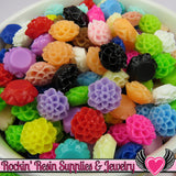 10mm Resin Chrysanthemum FLOWER CABOCHONS Assorted Colors - Rockin Resin  - 1