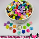 11mm Resin ROSE CABOCHONS Assorted Colors - Rockin Resin  - 2