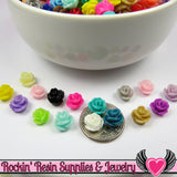 7mm Resin Rose FLOWER CABOCHONS Mixed - Rockin Resin  - 3
