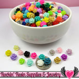 7mm Resin Rose FLOWER CABOCHONS Mixed - Rockin Resin  - 2