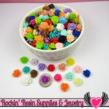 10mm Resin Flower ROSE CABOCHONS Mixed - Rockin Resin  - 3