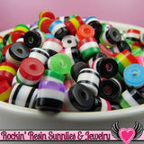 75 Striped 6mm Mixed Resin Column Beads - Rockin Resin  - 2