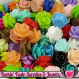 10mm Resin Flower ROSE CABOCHONS Mixed - Rockin Resin  - 2