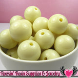 20mm Ivory Round Acrylic Bubblegum Beads 10 pieces - Rockin Resin  - 2