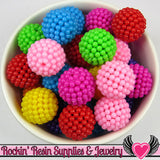 20mm Chunky Berry Beads Bright Mixed Colors (10 pieces) - Rockin Resin  - 1