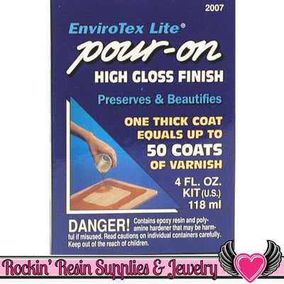 ENVIROTEX LITE Resin 4 oz High Gloss Epoxy Resin - Rockin Resin