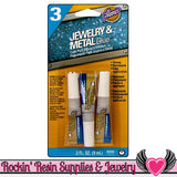 Aleene's JEWELRY & METAL GLUE 3 Tubes 0.1 oz each - Rockin Resin  - 1