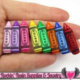 Jesse James Buttons 8pc BUTTON FUN Crayon Buttons / Turn them Into Flatback Cabochons - Rockin Resin  - 1