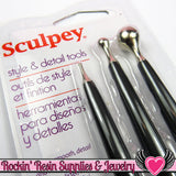 Sculpey Polymer Clay Style & Detail Tools Double Sided - Rockin Resin  - 1