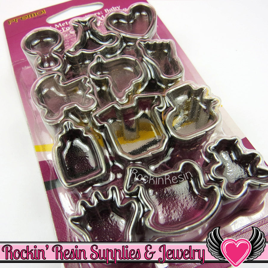 Sculpey Premo 12 BABY MINI CUTTERS Polymer Clay Metal Cookie Cutters - Rockin Resin  - 1