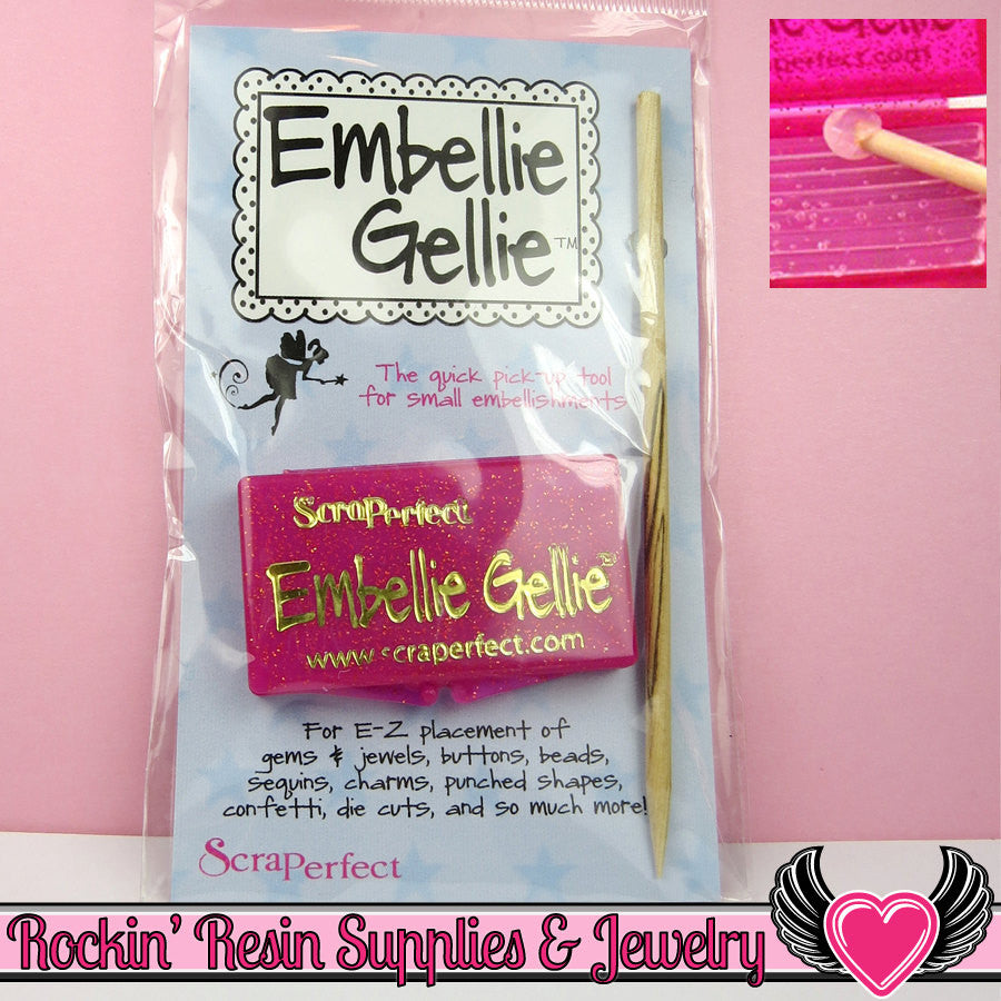 Embellie Gellie Pick up & Placement Tool for Rhinestones, Half Pearls, & More