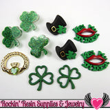 Jesse James Buttons 10 pc St. Patrick's Day Buttons and Flatback Cabochons - Rockin Resin  - 1
