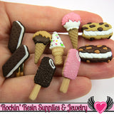 Jesse James Buttons 9 pc FREEZER TREATS Ice Cream Buttons / Turn them Into Decoden Cabochons - Rockin Resin  - 1