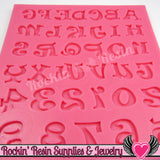 SILICONE MOLD Alphabet Letters and Numbers Food Grade - Rockin Resin  - 3