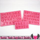 SILICONE MOLDS Full Alphabet Upper & Lower Case Letters and Numbers Food Grade - Rockin Resin  - 1