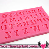 SILICONE MOLDS Full Alphabet Upper & Lower Case Letters and Numbers Food Grade - Rockin Resin  - 5