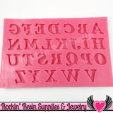 SILICONE MOLDS Full Alphabet Upper & Lower Case Letters and Numbers Food Grade - Rockin Resin  - 2