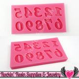 SILICONE MOLDS Full Alphabet Upper & Lower Case Letters and Numbers Food Grade - Rockin Resin  - 4