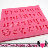 SILICONE MOLD Alphabet Lower Case Letters Food Grade - Rockin Resin  - 2