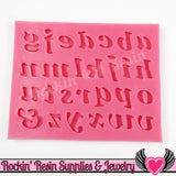 SILICONE MOLD Alphabet Lower Case Letters Food Grade - Rockin Resin  - 1