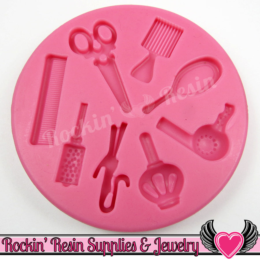 Beauty HAIR DReSSER SILICONE MOLD Food Grade - Rockin Resin  - 1