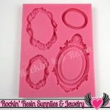 Victorian Cameo Setting FRAMES SILICONE MOLD Food Grade - Rockin Resin  - 1
