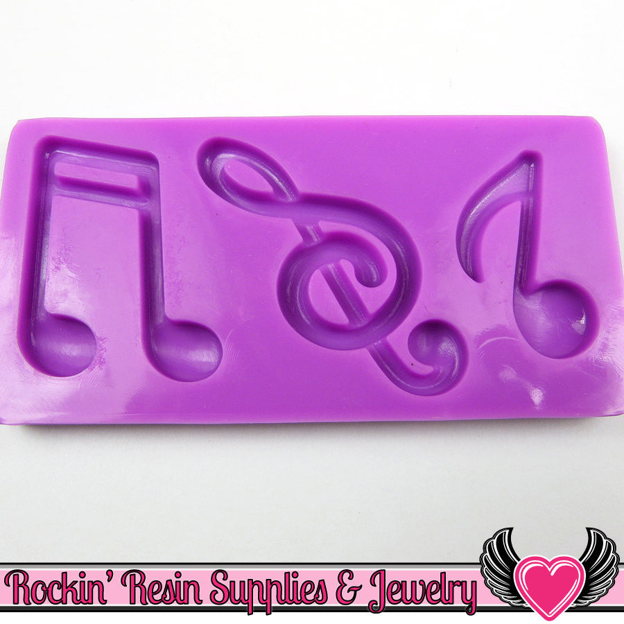 MUSIC NoTES SILICONE MOLD, Food Grade - Rockin Resin  - 1