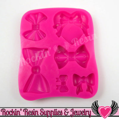 BOWS SILICONE MOLD, Food Grade - Rockin Resin  - 1
