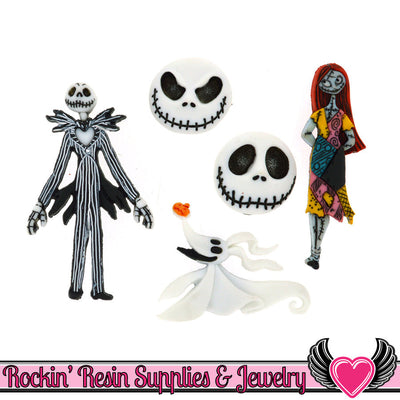 DISNEY The Nightmare Before Christmas Dress It Up Jesse James Buttons - Rockin Resin  - 1