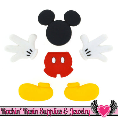Disney Everything MICKEY MOUSE Dress It Up Jesse James Buttons - Rockin Resin  - 1