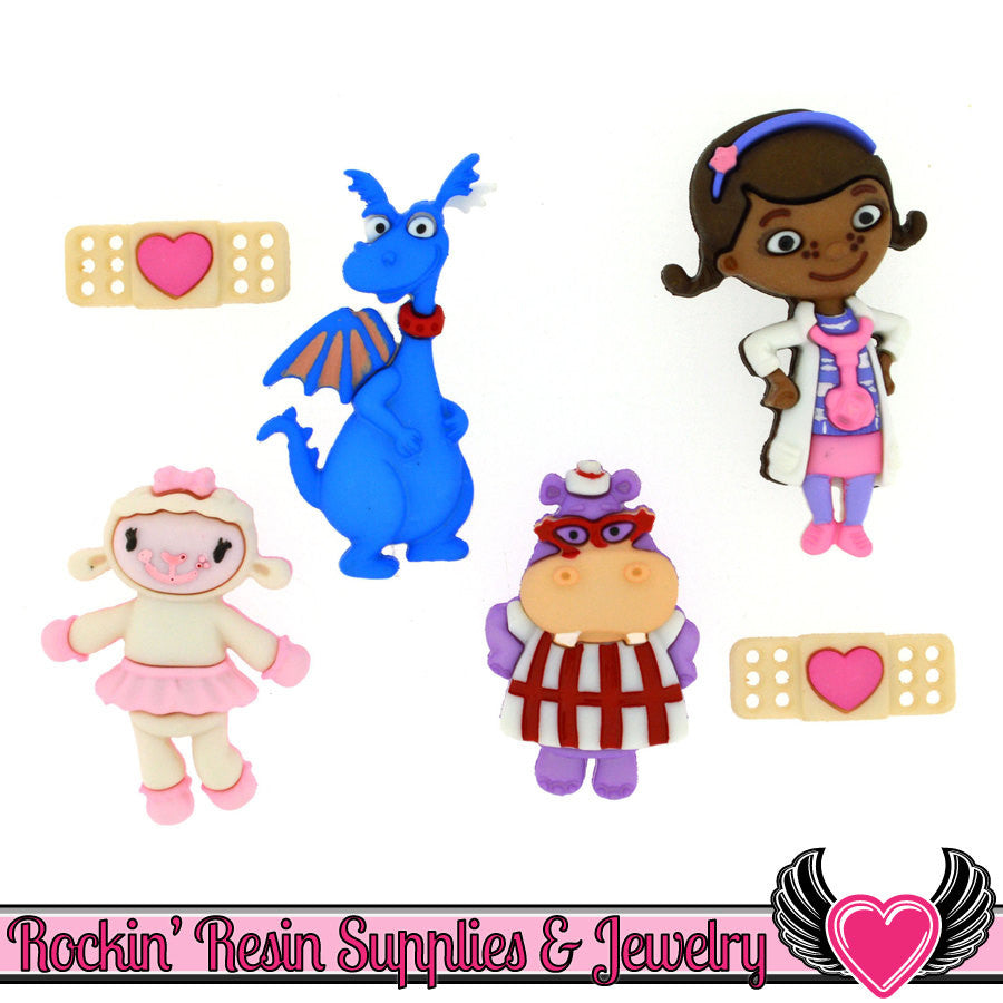 Disney DOC MCSTUFFINS Dress It Up Jesse James Buttons