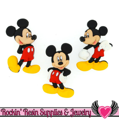 Disney MICKEY MOUSE Dress It Up Jesse James Buttons - Rockin Resin  - 1