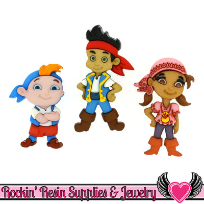 DISNEY Jake and the Neverland Pirates Dress It Up Jesse James Buttons - Rockin Resin  - 1