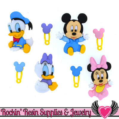 DISNEY BABIES Dress It Up Jesse James Buttons and Flatback Cabochon - Rockin Resin  - 1