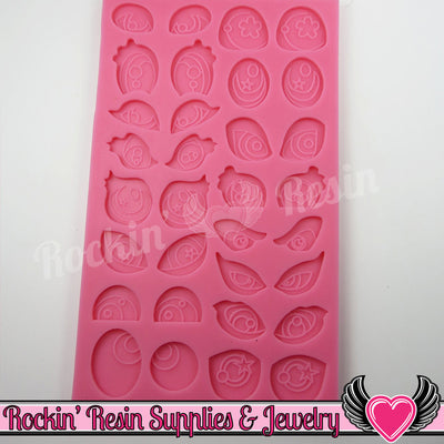 Cartoon Character Eyes SILICONE MOLD Food Grade Flexible - Rockin Resin  - 1