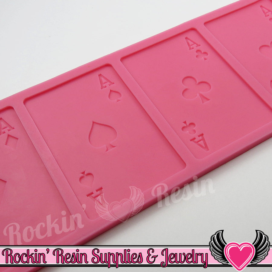 Aces Playing Cards Silicone Mold Cards Food Grade Flexible