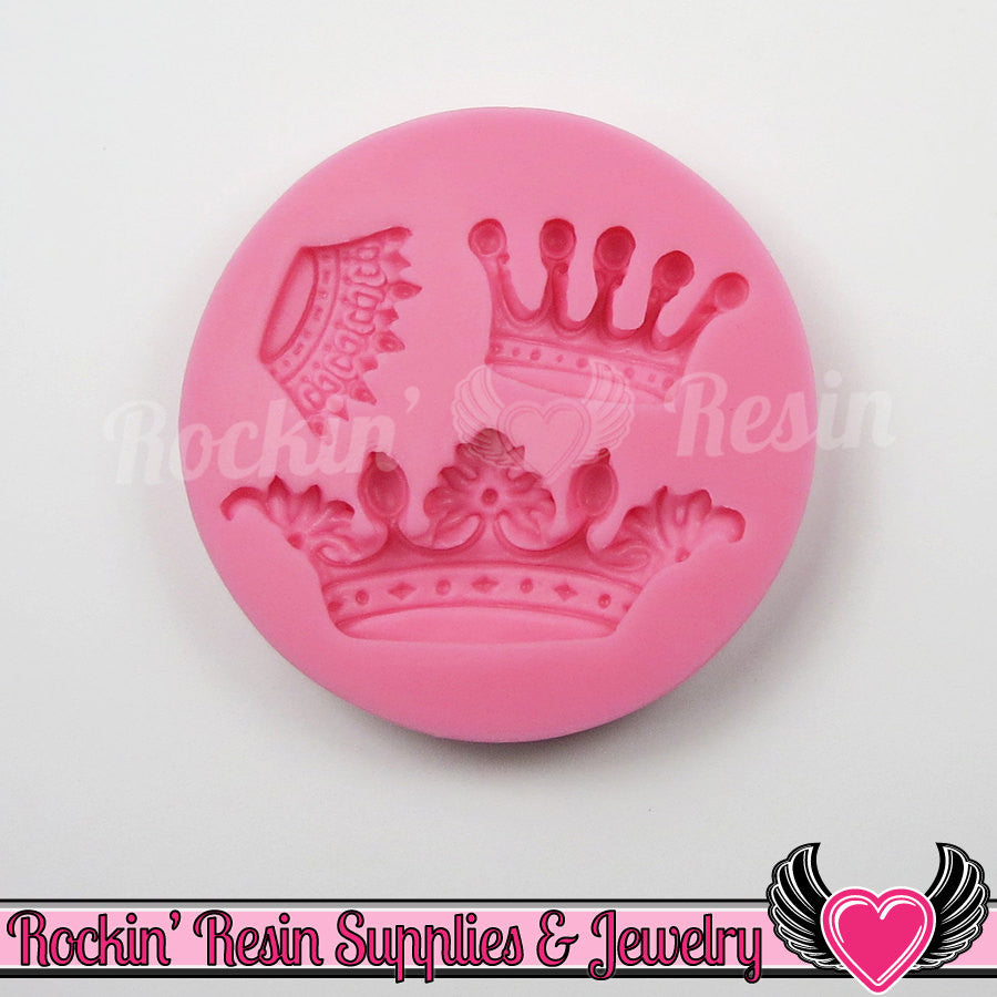 Royal CROWN SILICONE MOLD Food Grade Flexible - Rockin Resin  - 1