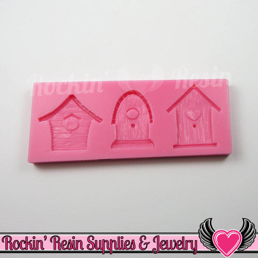 Bird House SILICONE MOLD Food Grade Flexible