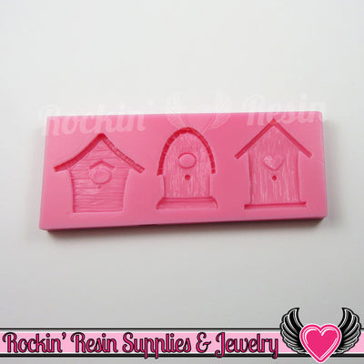 Bird House SILICONE MOLD Food Grade Flexible - Rockin Resin  - 1
