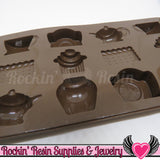 Tea / Cupcake SILICONE MOLD, Food Grade - Rockin Resin  - 3