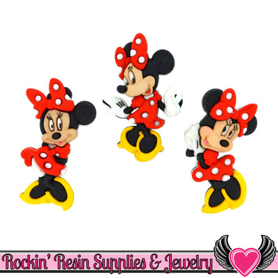 DISNEY MINNIE MOUSE Dress It Up Licensed Jesse James Buttons - Rockin Resin  - 1